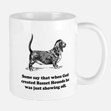 When God Created Basset Hounds Small Mug