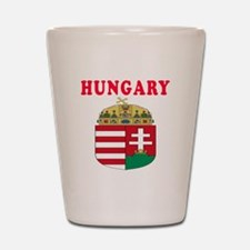 Hungary Coat Of Arms Designs Shot Glass