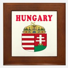 Hungary Coat Of Arms Designs Framed Tile