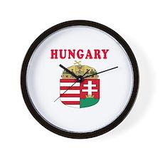 Hungary Coat Of Arms Designs Wall Clock