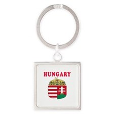 Hungary Coat Of Arms Designs Square Keychain