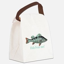 Fish Fear Me Humorous Fisherman Quote Canvas Lunch