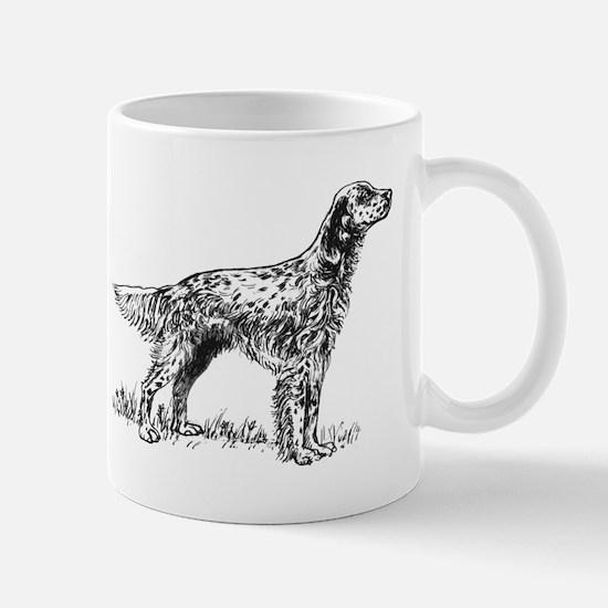 English Setter Sketch Small Mug