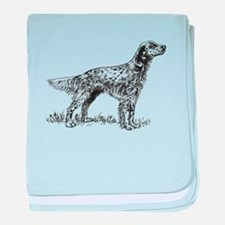 English Setter Sketch baby blanket