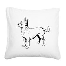 Chihuahua Sketch Square Canvas Pillow