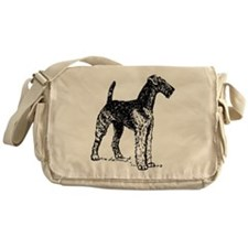 Airedale Sketch Messenger Bag