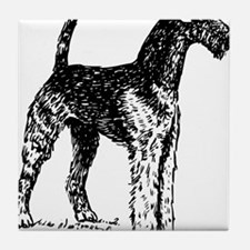 Airedale Sketch Tile Coaster