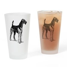 Airedale Sketch Drinking Glass