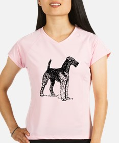 Airedale Sketch Peformance Dry T-Shirt