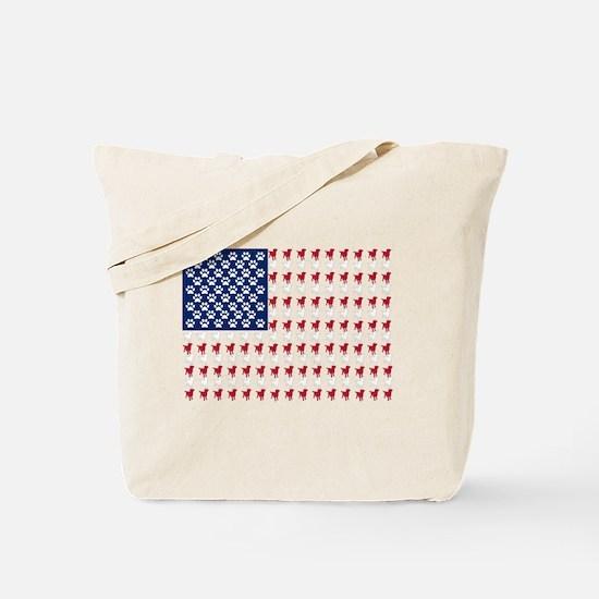 USA Dog Flag Tote Bag