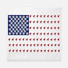 USA Dog Flag Queen Duvet