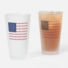 USA Dog Flag Drinking Glass