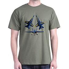Blues on blk T-Shirt