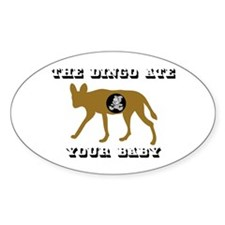 The Dingo Ate Your Baby Oval Decal