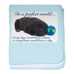 In A Perfect World (Lab) baby blanket
