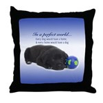 In A Perfect World (Lab) Throw Pillow