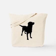 Dog Silhouette Tote Bag