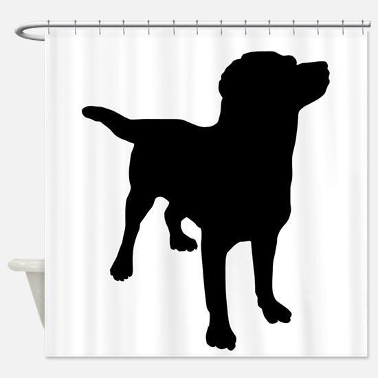 Dog Silhouette Shower Curtain