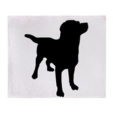Dog Silhouette Throw Blanket