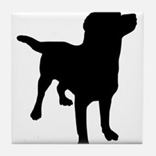 Dog Silhouette Tile Coaster