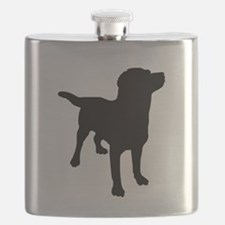 Dog Silhouette Flask