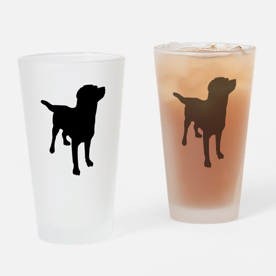 Dog Silhouette Drinking Glass