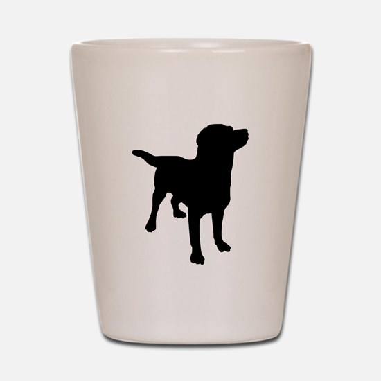 Dog Silhouette Shot Glass