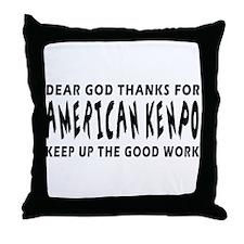 American Kenpo Martial Arts Designs Throw Pillow