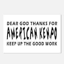 American Kenpo Martial Arts Designs Postcards (Pac