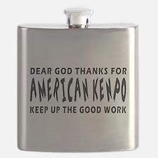 American Kenpo Martial Arts Designs Flask