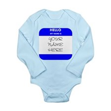 Custom Blue Name Tag Body Suit