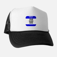 Custom Blue Name Tag Hat