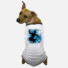 Snowboarding (Teal) Dog T-Shirt