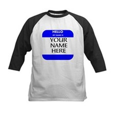 Custom Blue Name Tag Baseball Jersey