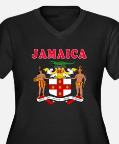 Jamaica Coat Of Arms Designs Women's Plus Size V-N