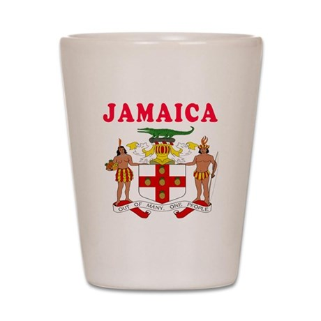 Jamaica Coat Of Arms Designs Shot Glass
