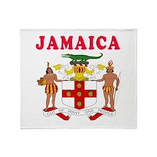 Jamaica Coat Of Arms Designs Throw Blanket