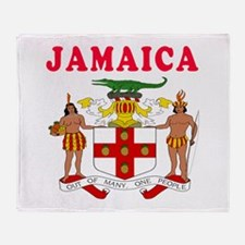 Jamaica Coat Of Arms Designs Throw Blanket