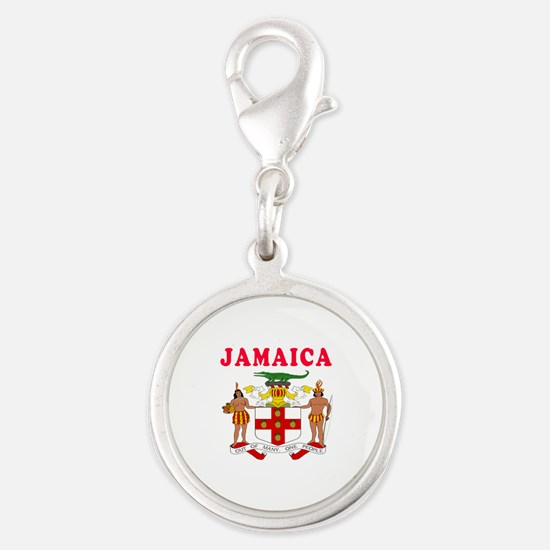 Jamaica Coat Of Arms Designs Silver Round Charm