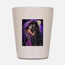 Grim Reaper Lovers Embrace Shot Glass