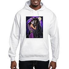 Grim Reaper Lovers Embrace Hoodie