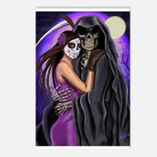 Grim Reaper Lovers Embrace Postcards (Package of 8