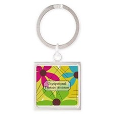 Occupational Therapy Square Keychain