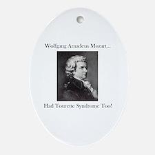 Mozart Tourette Syndrome Oval Ornament