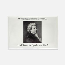 Mozart Tourette Syndrome Rectangle Magnet