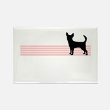 Retro Chihuahua Rectangle Magnet (10 pack)