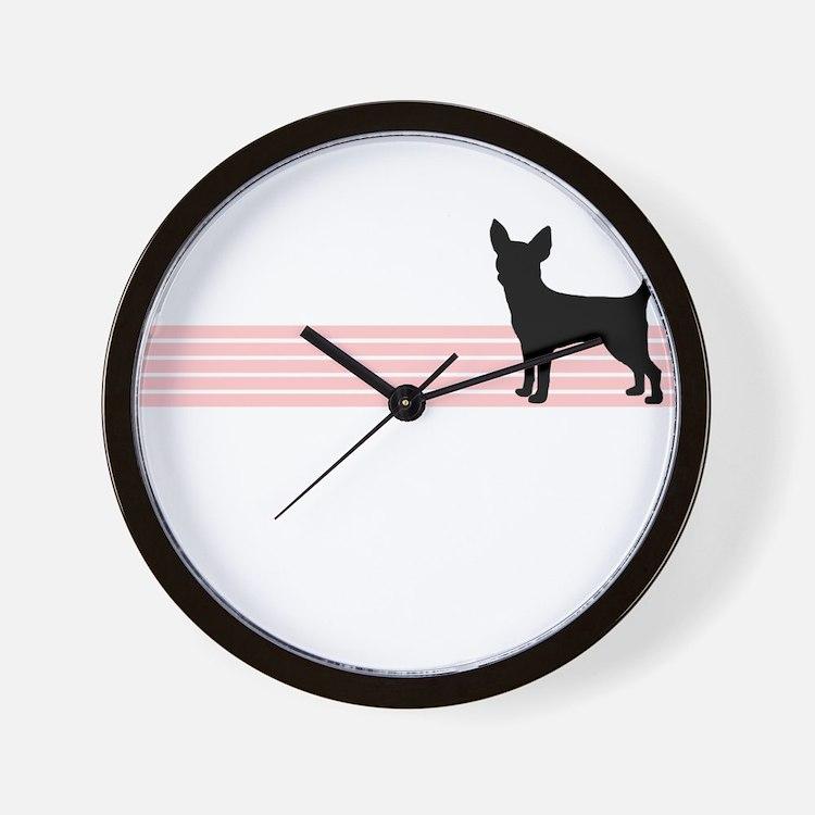 Retro Chihuahua Wall Clock