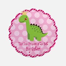 "Dino Princess Big Sister 3.5"" Button (100 pack)"