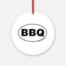 BBQ Sticker Ornament (Round)