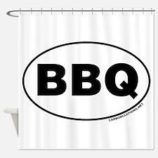 BBQ Sticker Shower Curtain
